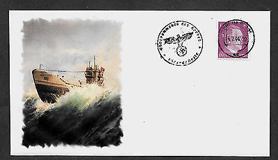 U-Boat Collector's Envelope with genuine 1941 Hitler Postage Stamp *R623