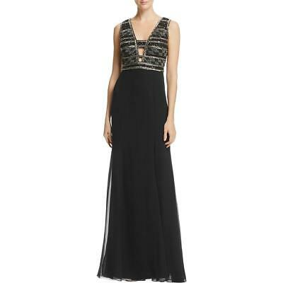35baa01556e  28.99 Buy It Now 24d 1h. See Details. Adrianna Papell Womens Black Beaded  Full-Length Evening Dress Gown 4 BHFO 5713