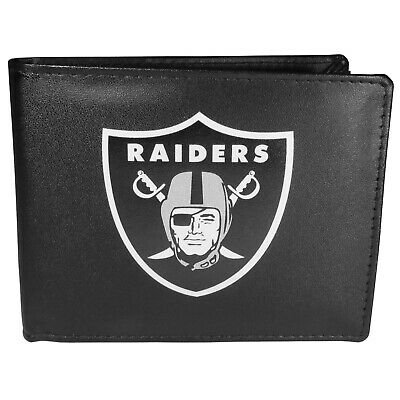 Oakland Raiders Bi-Fold Large Logo Mens Wallet NFL Football Licensed Bifold