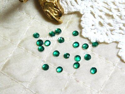 (139)*costume Makers Sellout*flat Back Rhinestones*green*round*new!*