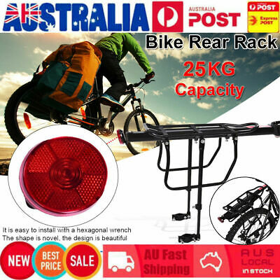 Bike Rear Rack Seat Post Pannier Bicycle Luggage Carrier Cycling Aluminum Alloy