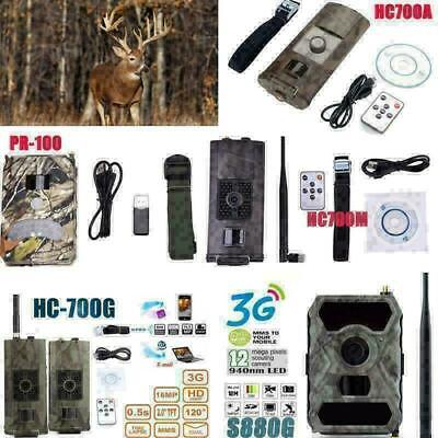 12MP/16MP 1080P Hunting Camera Night Vision IR Trail Scouting Wildlife Trap Cam