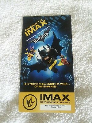 The Lego Batman Movie Collectible Regal IMAX Ticket - only 3 left