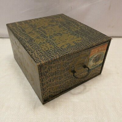 Vintage Wooden and Card Japanese Medicine Box Drawers Circ1950s #896