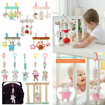 Baby Stroller Infant Bed Hanging Bell Rattle Crib Plush Spiral Toy Perfect Gift
