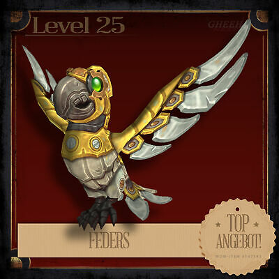 » Feders | Feathers | World of Warcraft | WoW Patch 8.1.5 | Haustier Pet | L25 «