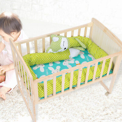 2019 Baby Crib Bumper Cot Bolster Infant Nursery Pillow Bedding Cushion Protect