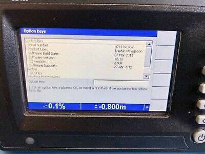 Trimble CB450 Control Box  Excavator 2D Indicate - S/W Version 12.11 cb 450