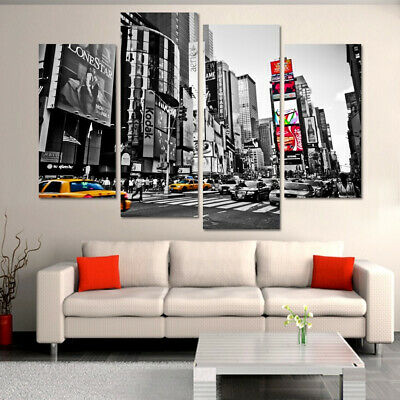 Times Square New York City 4 Panel Canvas Print Wall Art Poster