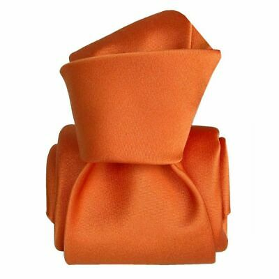 Cravate luxe soie satin faite main - Orange -