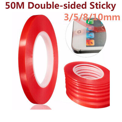 50M RED Film Transparent DOUBLE SIDED STICKY PET ADHESIVE TAPE Phone Repair