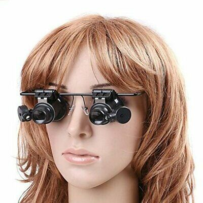 20X Magnifying Magnifier Eye Glass Loupe Jeweler Watch Repair with LED Light UK