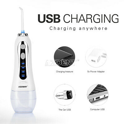 300ML Dental Portable Electric Water Floss Flossers USB with 5 Nozzle Tips