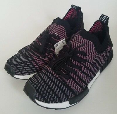 6a3f35eb8d19 CQ2386  NEW MEN S Adidas Originals Nmd R1 Stlt Pk Primeknit Black ...