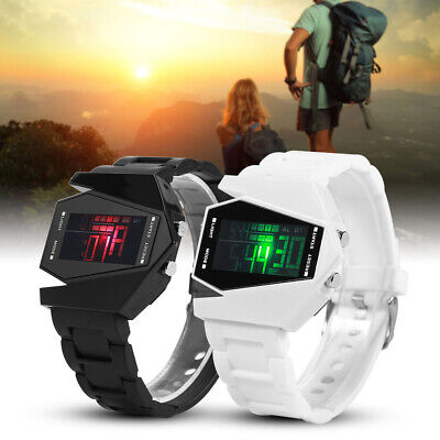Stainless Steel Fashion Men Women Black Luxury Sport Digital LED Dial Wristwatch