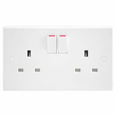 Bg British General 13A 2 Gang Way Sp Mains Wall Double Switched Socket
