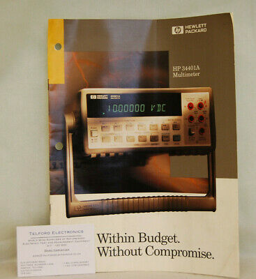 HP34401A Multimeter Literature & Specifications