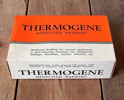 Vintage Thermogene Medicated Wadding Roberts of Chesterfield Medical Dressing #1