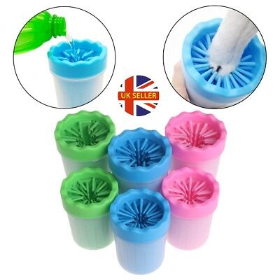 Portable Dog Paw Cleaner Pet Cleaning Brush Cup Dog Foot Cleaner| Soft Silicone