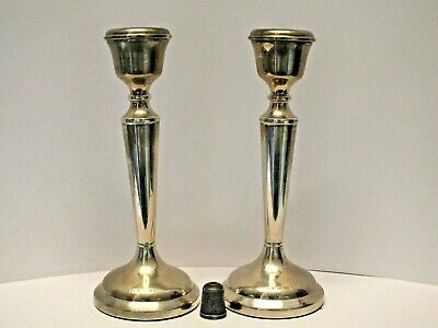 Pair of Elegant Vintage Solid Sterling Silver Candlesticks - A.T.Cannon Ltd 1974