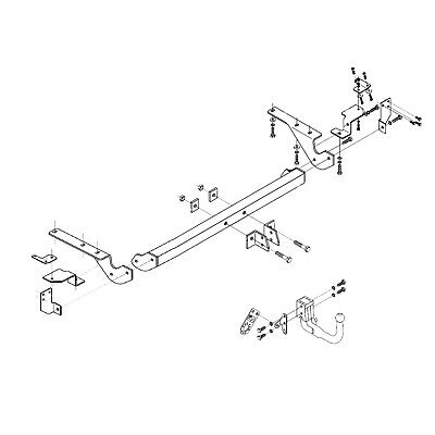 Towbar For Audi A4 Convertible 2002 2006