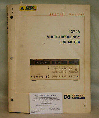 HP 4274A Multi-Frequnecy LCR Meter Service Manual