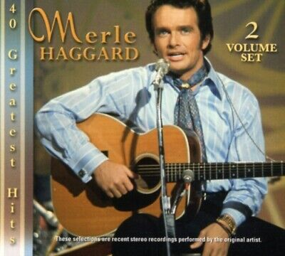 40 Greatest Hits - 2 DISC SET - Merle Haggard (CD New)