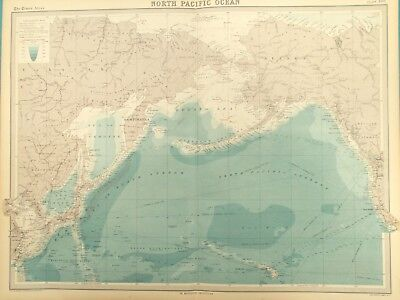 Map of the North Pacific Ocean. 1922  ALASKA..KAMCHATKA. ALEUTIAN ISLANDS