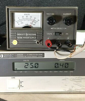 Hewlett Packard HP 6216A 0-25V/0-0.4A Variable DC Power Supply - Load Tested