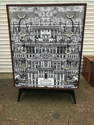 retro vintage 1950s 60s chest drawers sideboard buffet credenza Fornasetti era