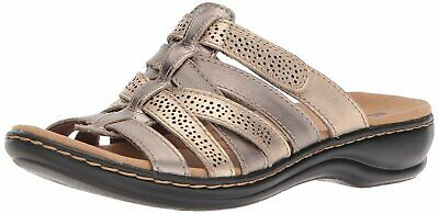 e95b371bce1 CLARKS Womens leisa fields Open Toe Casual Slide Sandals