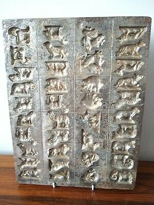 Vintage Rare Metal Cast Chocolate Animal Mould. Lions,pigs,sheep,tigers, & More