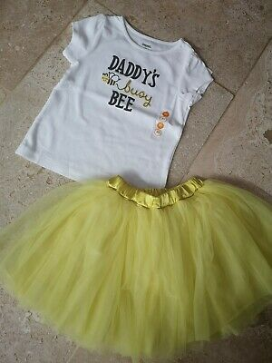 Bnwt gymboree Daddy's Busy Bee T Shirt & Matching Yellow Tutu Age 2-3 3t