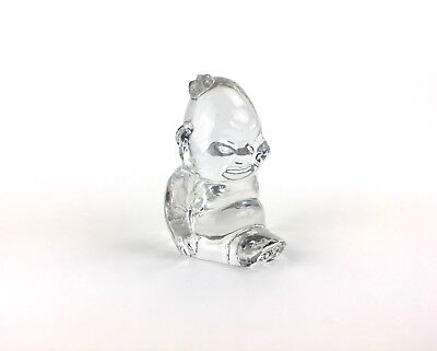 Vintage Mid Century Glass Billiken Statue Paperweight by Lefton's of Japan