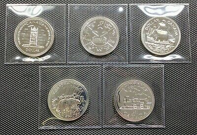 Canada Silver 1977 1978 1979 1980 1981 Lot of 5 Different Specimen Dollar Coins