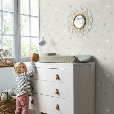 Bambino Grey and White Rabbit Childrens Wallpaper by Rasch 249248