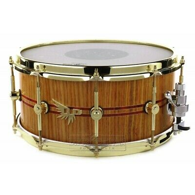 Hendrix Super Exotic Canary Wood Snare Drum 14x6.5 w/Redheart Inlays