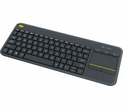 LOGITECH K400 Plus Wireless Keyboard - Dark Grey - for Windows, Android PC TO TV