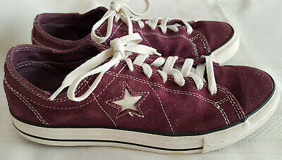 9a833dfea167 CONVERSE ONE STAR Plum Purple Suede Sneakers Women s Size 10 ...