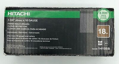 Hitachi Brand 18 Gauge 1-3/4 inch Finish Nails (Brads) Galvanized