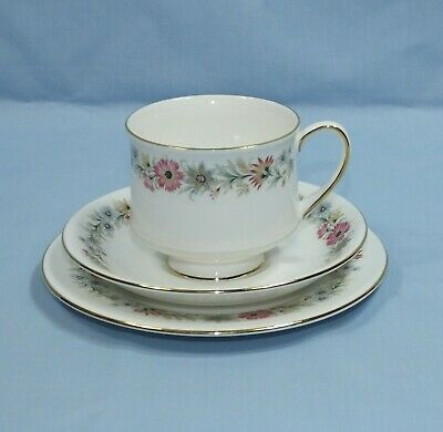 Paragon Belinda Bone China Tea Cup Saucer & Plate Trio