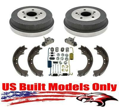 For 01-06 XL7 Rear Brake Drums Wheel Cly Springs and Shoes 100/% New 6pc
