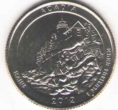 US. 2012-D. Acadia National Park. Maine. (July 8, 1916) UNC