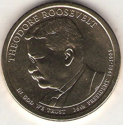 US. 2013-D. Theodore Roosevelt. 26th President (1901-1908) UNC.