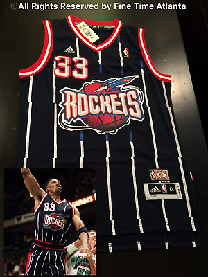 39f0f445f NEW Scottie Pippen Houston Rockets Men s 1995-2003 Navy   Pinstripe Retro  Jersey