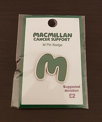 """Brand New & Sealed """"MACMILLAN CANCER SUPPORT"""" Pin Badge (SAME DAY DISPATCH !!)"""