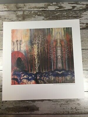 Radiohead King of Limbs Divided Wood by Stanley Donwood Lithograph Rare Poster