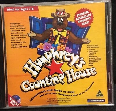 CD Humphrey's Counting House - Vintage Game for Windows 3.1 or Mac Classic