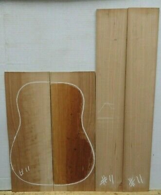 EBONY DREADNOUGHT GUITAR BACK AND SIDE  SET EB105 LUTHIER TONEWOOD BOOK MATCHED