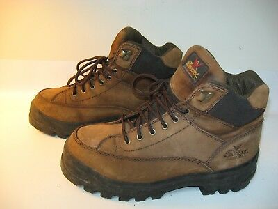 c4f23af5b39 THOROGOOD WORK BOOTS Men's Brown Leather Lace-up Steel Toe 804-4555 - US  8.5 M